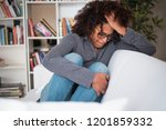 black woman trying to get over... | Shutterstock . vector #1201859332