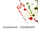 colorful drops on a white... | Shutterstock . vector #1201869625