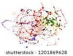 colorful drops on a white... | Shutterstock . vector #1201869628