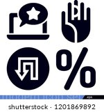 set of 4 signs filled icons...   Shutterstock .eps vector #1201869892
