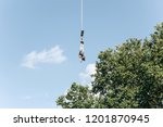 person jumped with a rope for... | Shutterstock . vector #1201870945