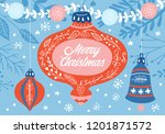 christmas holiday cute greeting ... | Shutterstock .eps vector #1201871572
