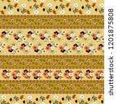 seamless paisley pattern in... | Shutterstock .eps vector #1201875808
