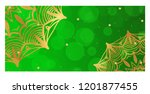 vintage card with patterns of...   Shutterstock .eps vector #1201877455