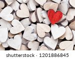 white and red hearts ... | Shutterstock . vector #1201886845