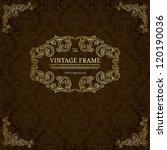 Vintage Golden Frame On Dark...