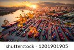 logistics and transportation of ... | Shutterstock . vector #1201901905