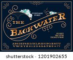 font and the alphabet with the... | Shutterstock .eps vector #1201902655