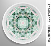decorative plate with round... | Shutterstock .eps vector #1201909825