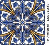azulejos portuguese dutch tile... | Shutterstock .eps vector #1201911568