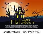 happy halloween  banner design... | Shutterstock .eps vector #1201934242
