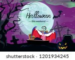 halloween vampire weekend... | Shutterstock .eps vector #1201934245