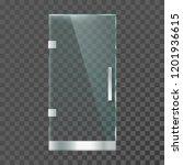 realistic glass door. modern... | Shutterstock .eps vector #1201936615