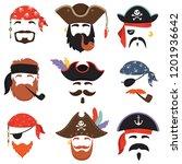 carnival pirate mask. funny sea ... | Shutterstock .eps vector #1201936642