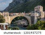 mostar  bosnia  july 28  2018 ... | Shutterstock . vector #1201937275