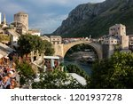 mostar  bosnia  july 28  2018 ... | Shutterstock . vector #1201937278