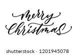 merry christmas lettering...   Shutterstock .eps vector #1201945078