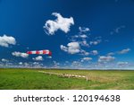 Air Field Direction Sign And A...