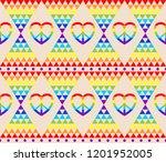vintage hippie wallpaper with... | Shutterstock . vector #1201952005