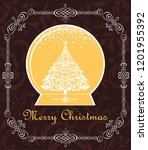 sweet xmas greeting with... | Shutterstock . vector #1201955392