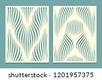 set of decorative panels for... | Shutterstock . vector #1201957375