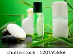 bamboo beauty spa bottles and... | Shutterstock . vector #120195886