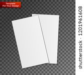 blank business cards on... | Shutterstock .eps vector #1201961608
