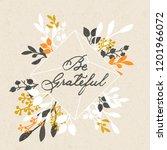 vector thanksgiving day... | Shutterstock .eps vector #1201966072