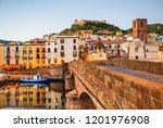 beautiful view of bosa town ... | Shutterstock . vector #1201976908