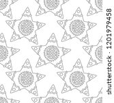 gingerbread. black and white... | Shutterstock .eps vector #1201979458