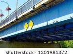 ailing blue rusty pedestrian...   Shutterstock . vector #1201981372