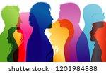 dialogue between students.... | Shutterstock . vector #1201984888