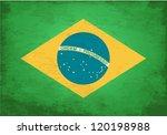 grunge flag of brasil   Shutterstock .eps vector #120198988