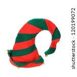 Christmas Elf Hat On White...