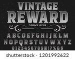 vector illustration font script ... | Shutterstock .eps vector #1201992622