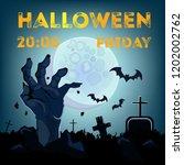 halloween lettering with date ... | Shutterstock .eps vector #1202002762
