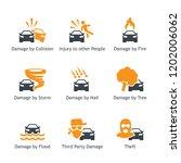 car insurance coverage types...   Shutterstock .eps vector #1202006062