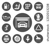 auto service icons set | Shutterstock .eps vector #1202013238