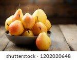 pears. pears harvest. fresh...   Shutterstock . vector #1202020648
