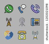 receiver icon set. vector set... | Shutterstock .eps vector #1202021098