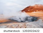 iceland geothermal. namafjall   ... | Shutterstock . vector #1202022622