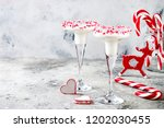 white chocolate peppermint... | Shutterstock . vector #1202030455