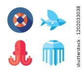 swim icon set. vector set about ... | Shutterstock .eps vector #1202033038