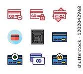 debit icon set. vector set...   Shutterstock .eps vector #1202042968