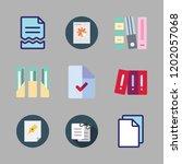 bureaucracy icon set. vector... | Shutterstock .eps vector #1202057068