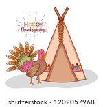 turkey animal and indigenous...   Shutterstock .eps vector #1202057968