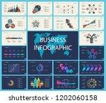 set of analysis or statistics... | Shutterstock .eps vector #1202060158