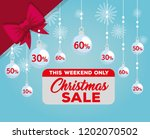 christmas sale label with balls ... | Shutterstock .eps vector #1202070502