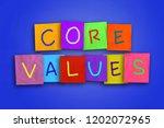 core values  business ethics...   Shutterstock . vector #1202072965