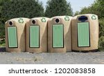 recycling bins for public use... | Shutterstock . vector #1202083858